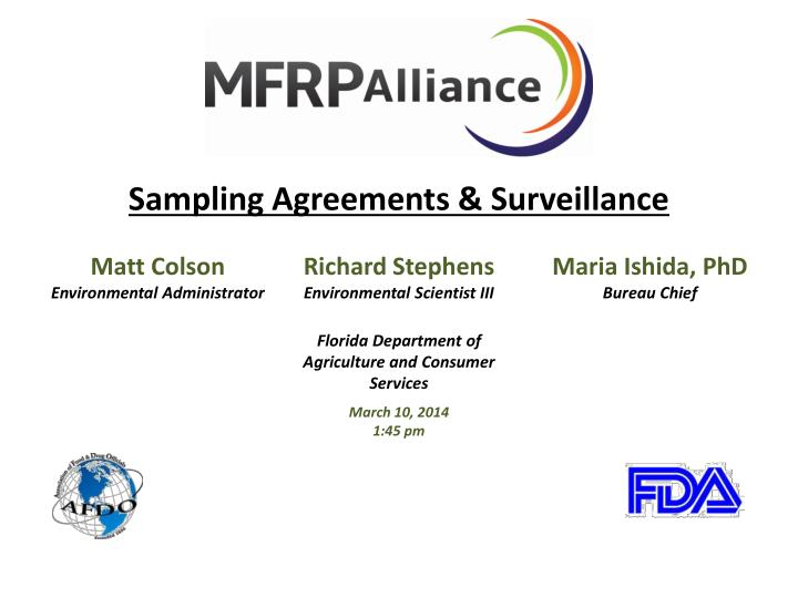 Sampling Agreements & Surveillance