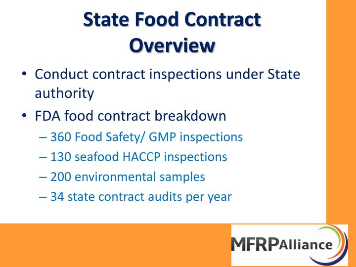 State Food Contract