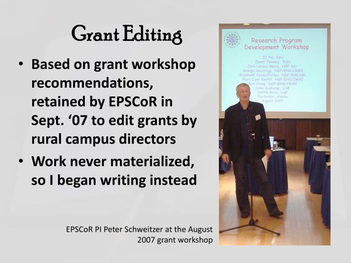 Grant Editing