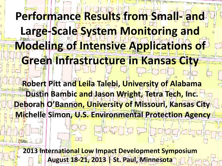Integrated Modeling of Green Infrastructure Components in an Area Served by Combined Sewers