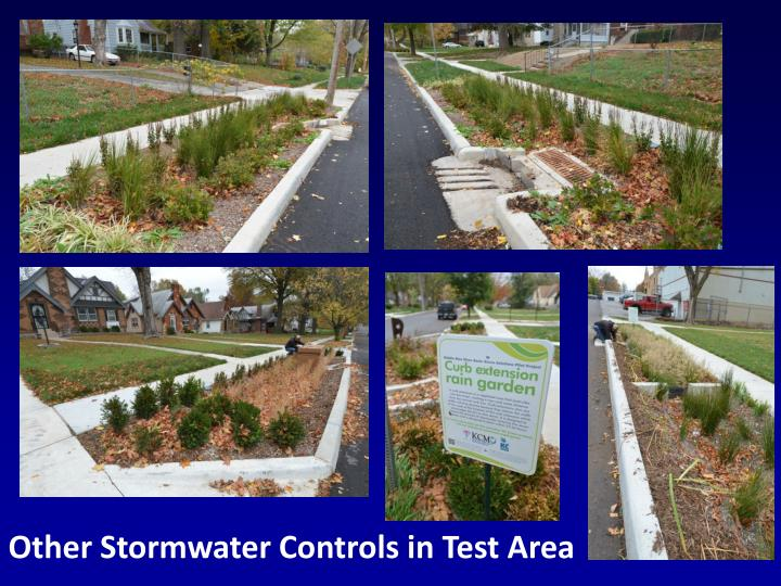 Other Stormwater Controls in Test Area