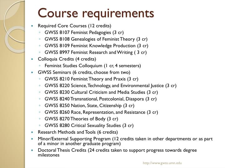 Course requirements