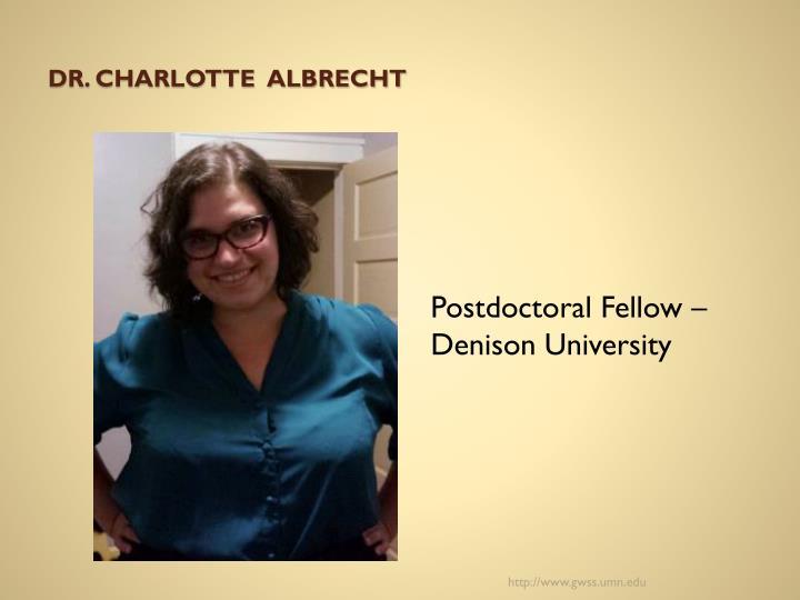Dr. Charlotte  Albrecht