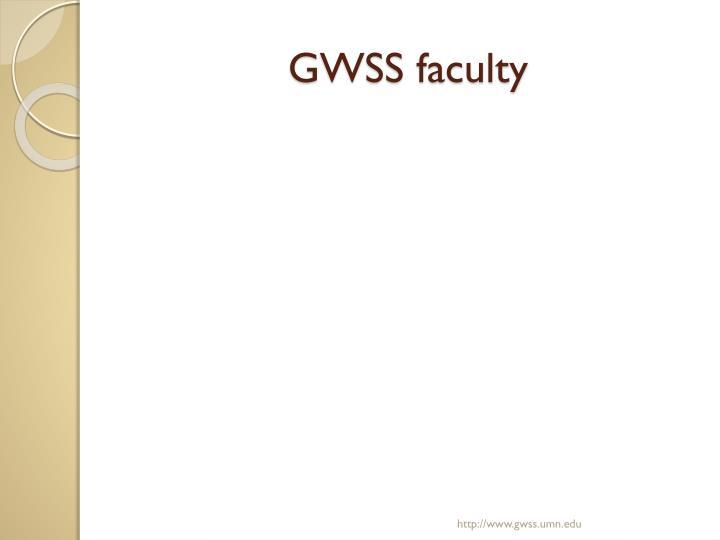 GWSS faculty