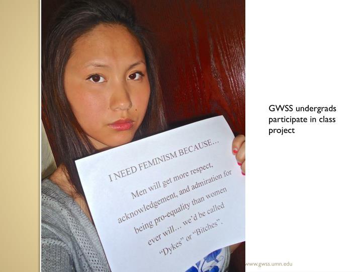 GWSS undergrads participate in class project