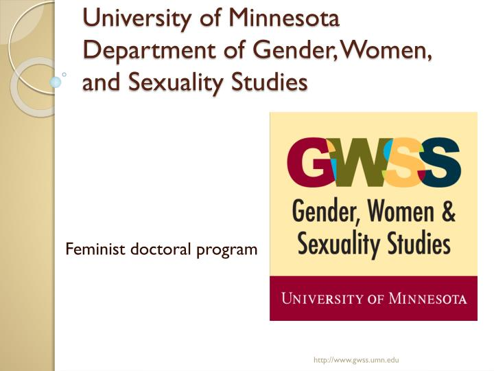 University of minnesota department of gender women and sexuality studies