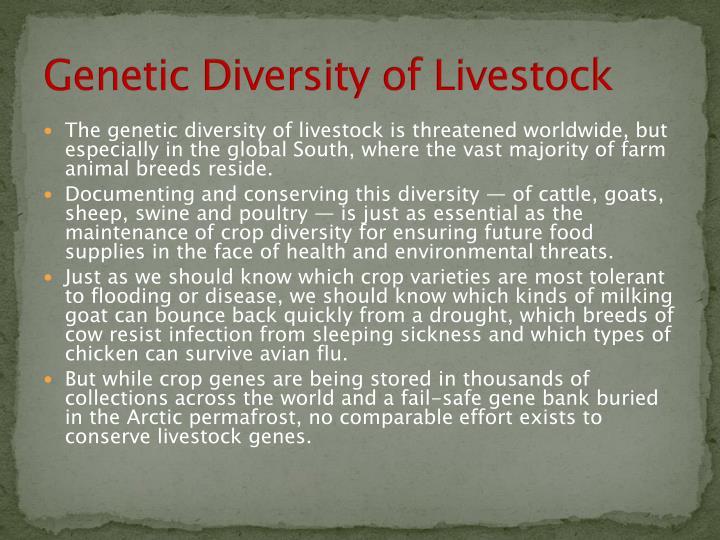 Genetic Diversity of Livestock
