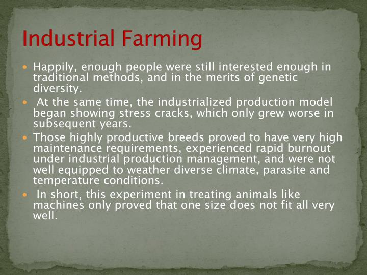 Industrial Farming