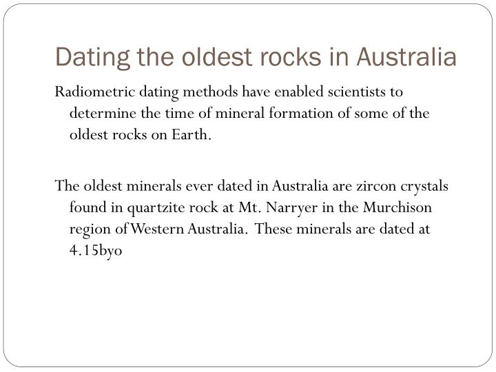 Dating the oldest rocks in Australia