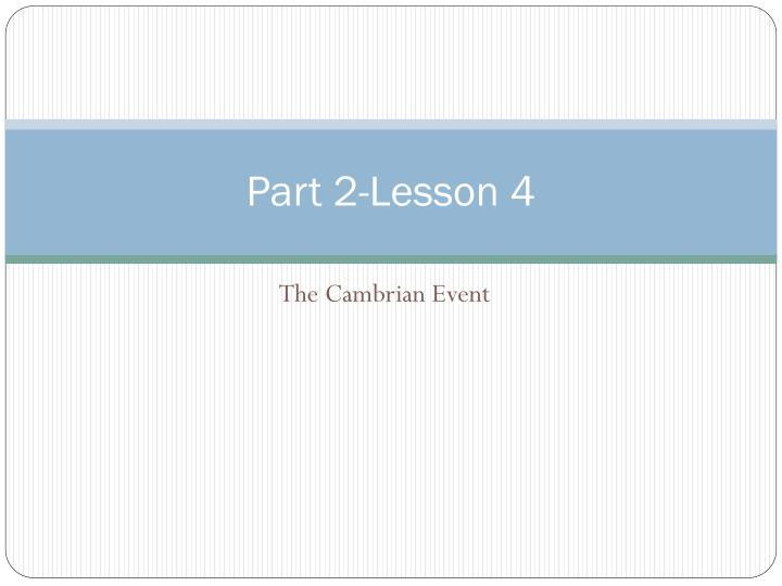 Part 2-Lesson 4