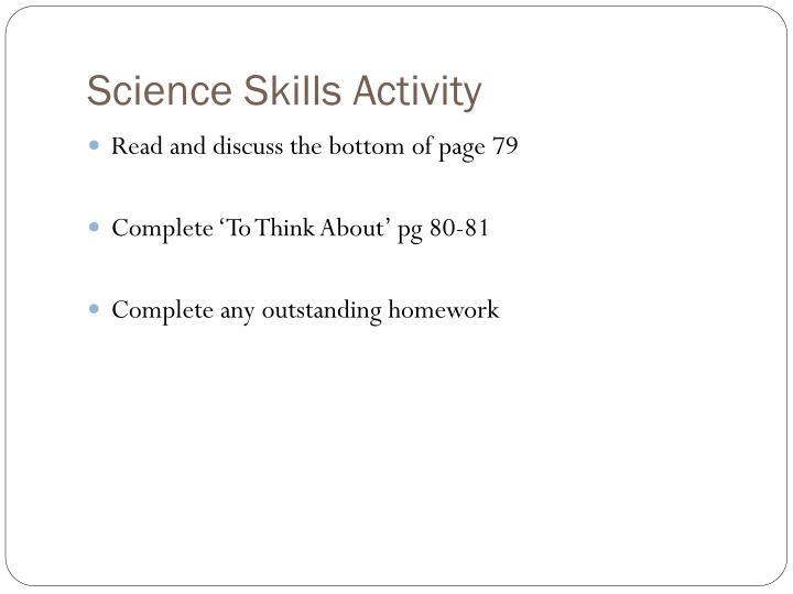 Science Skills Activity