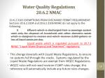 water quality regulations 20 6 2 nmac1