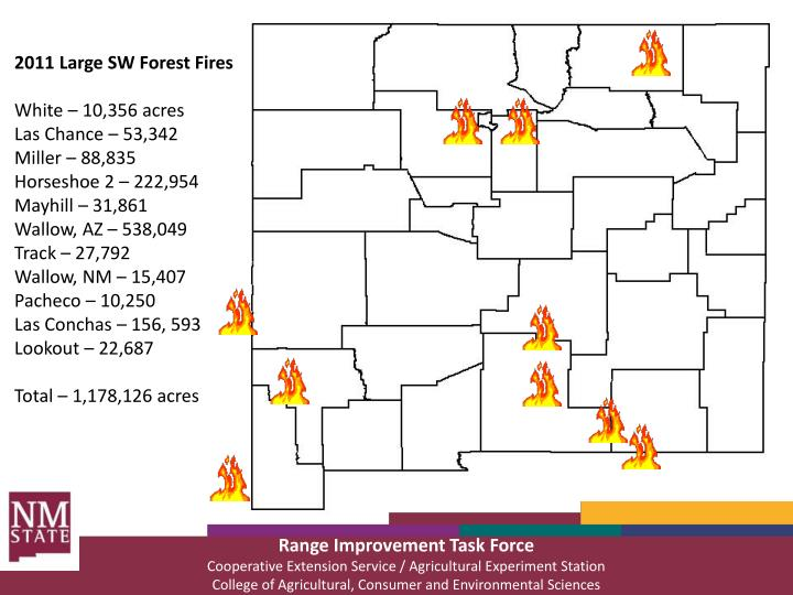 2011 Large SW Forest Fires