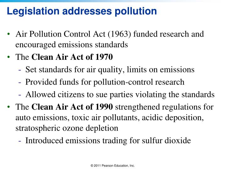 Legislation addresses pollution