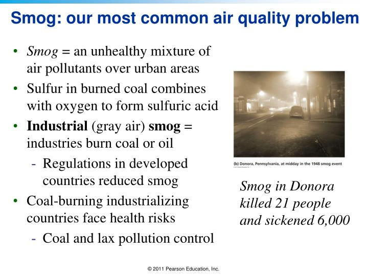 Smog: our most common air quality problem