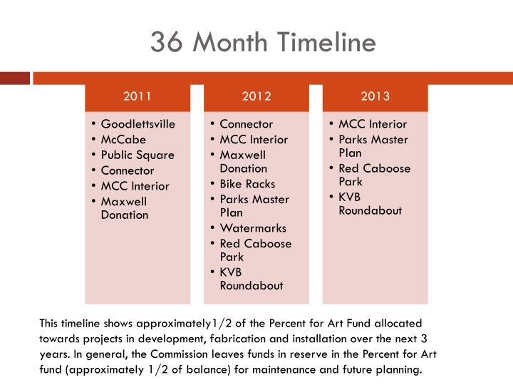 36 Month Timeline