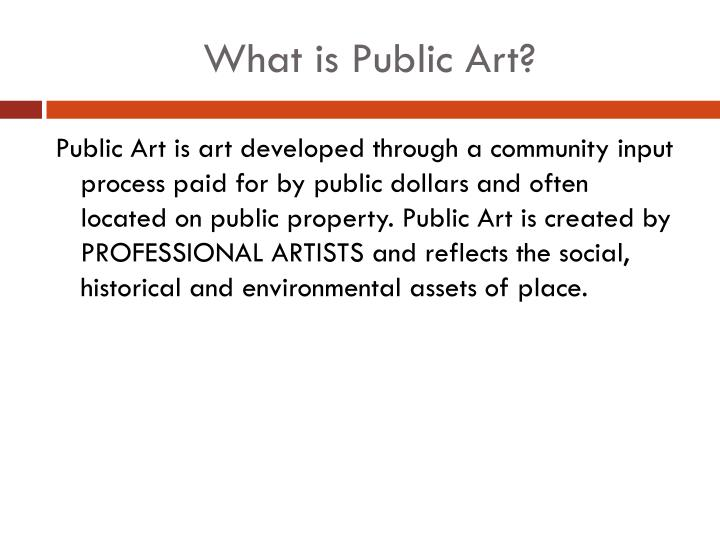 What is public art