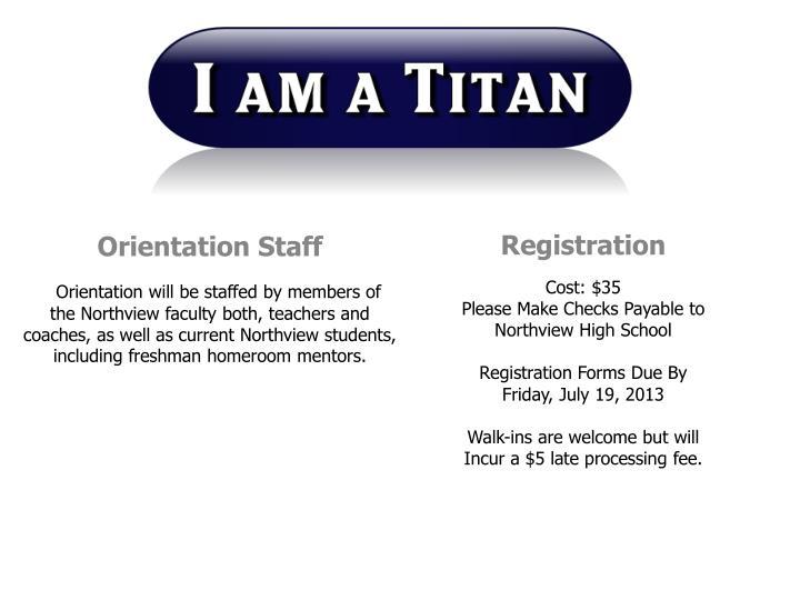 Orientation Staff