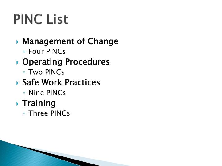 PINC List
