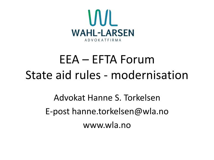 Eea efta forum state aid rules modernisation