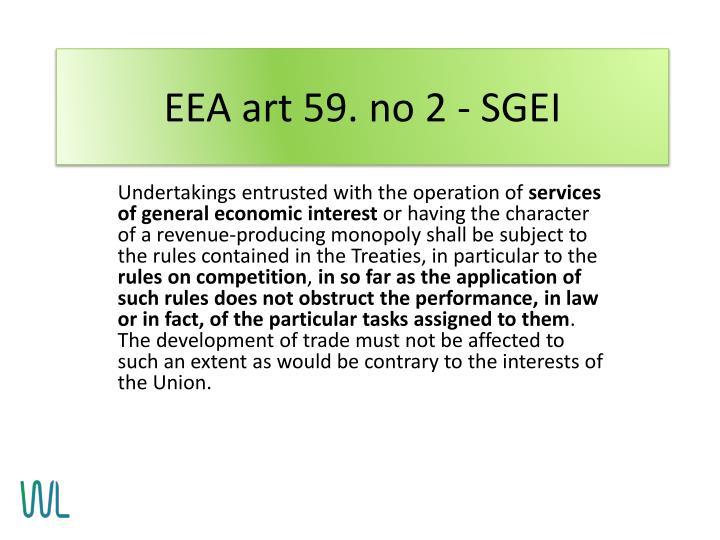 EEA art 59. no 2 - SGEI