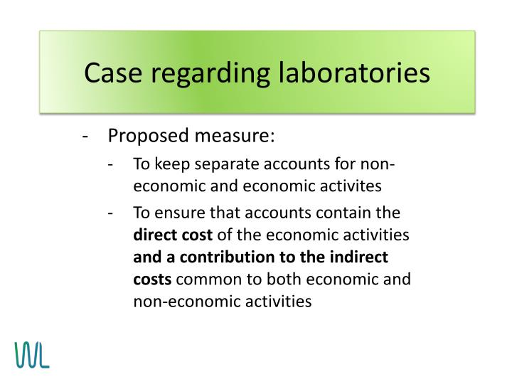 Case regarding laboratories