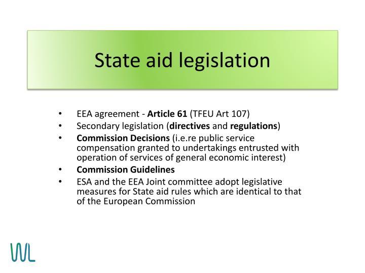 State aid legislation