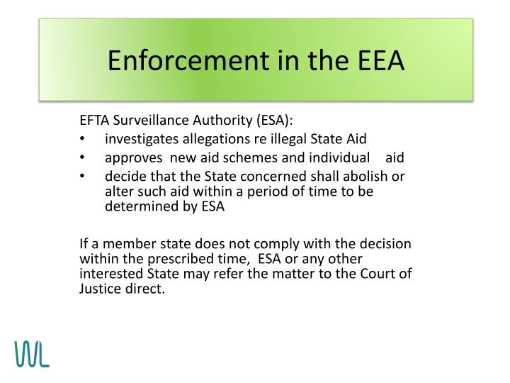 Enforcement in the EEA