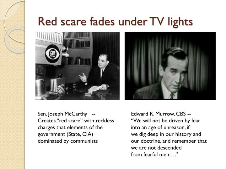 Red scare fades under TV lights
