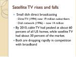 satellite tv rises and falls