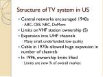 structure of tv system in us