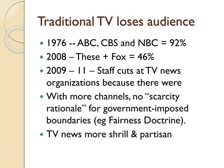 Traditional TV loses audience