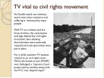 tv vital to civil rights movement