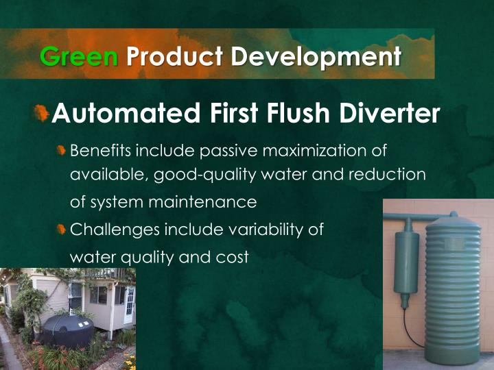 Ppt green entrepreneurship and the osu low impact for First flush diverter plans