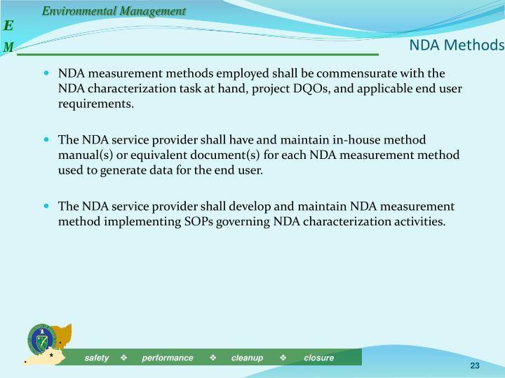 NDA Methods