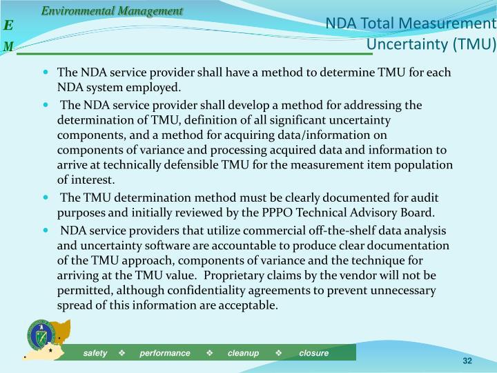 NDA Total Measurement