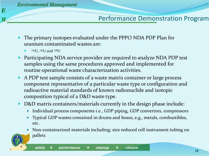 Performance Demonstration Program