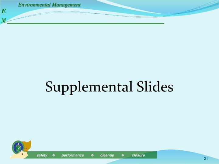 Supplemental Slides