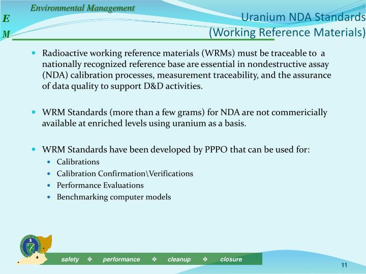 Uranium NDA Standards