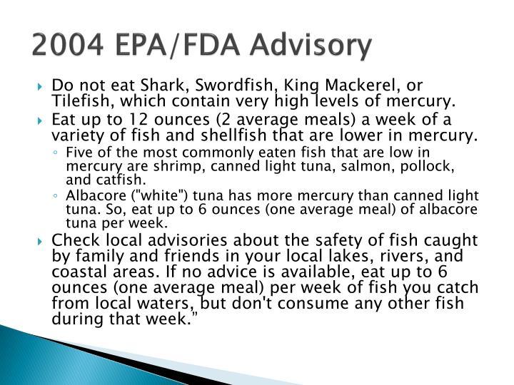 2004 EPA/FDA Advisory