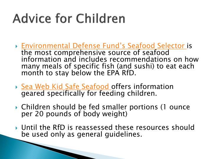 Advice for Children