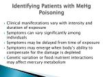identifying patients with mehg poisoning