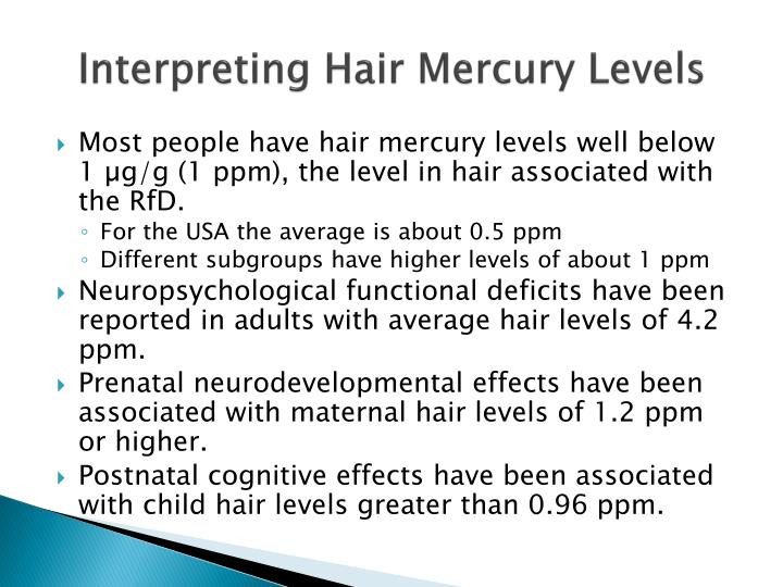 Interpreting Hair Mercury Levels