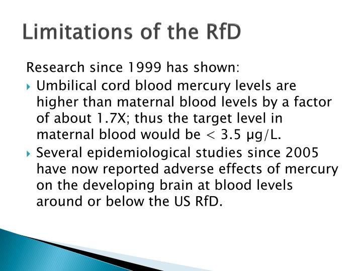 Limitations of the RfD