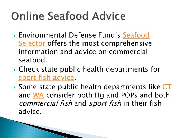 Online Seafood Advice