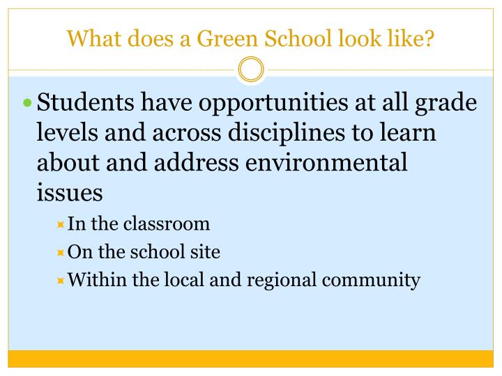 What does a Green School look like?
