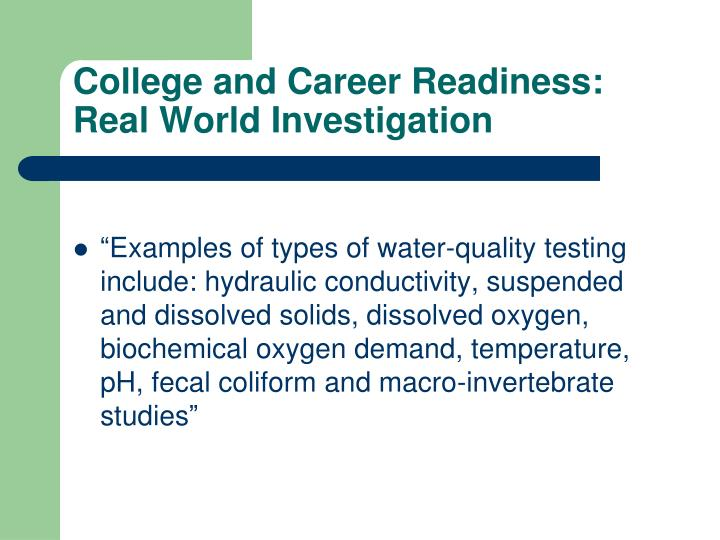 College and Career Readiness: