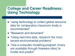 college and career readiness using technology