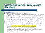 college and career ready science standards2