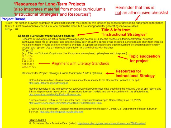 *Resources for Long-Term Projects